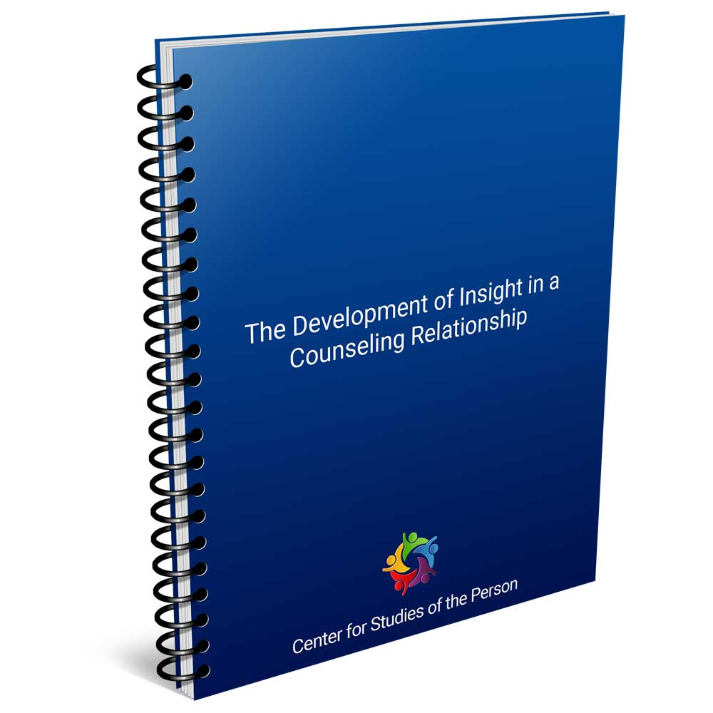 The Development of Insight in a Counseling Relationship   Center for Studies of the Person